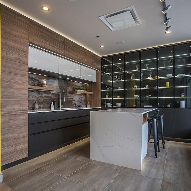 quel mat riau choisir pour les armoires de cuisine ou de salle de bain cuisines beauregard. Black Bedroom Furniture Sets. Home Design Ideas