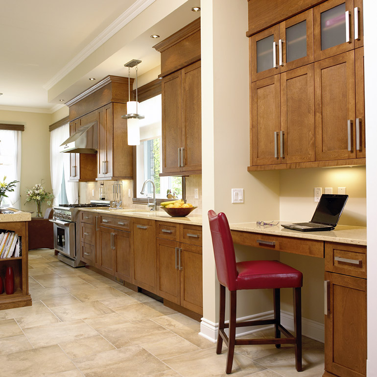 Cuisines Beauregard | Working area for a transitional style kitchen