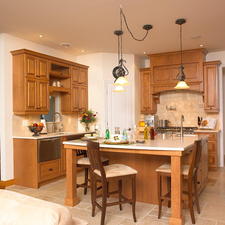 Cuisines beauregard cuisine r alisation 170 cuisine - Caisson cuisine bois massif ...