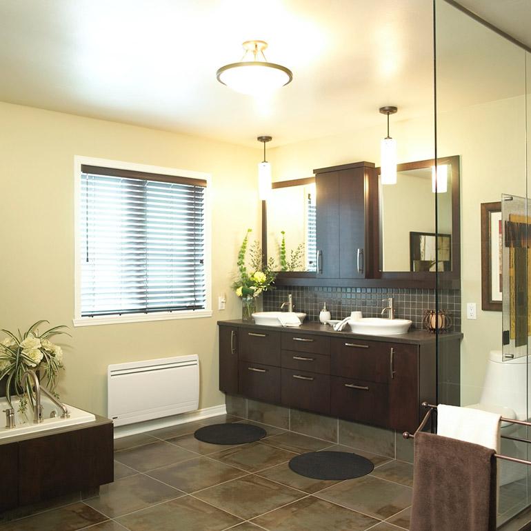 cuisines beauregard salle de bain r alisation 189 salle de bain urbaine en bois plaqu. Black Bedroom Furniture Sets. Home Design Ideas