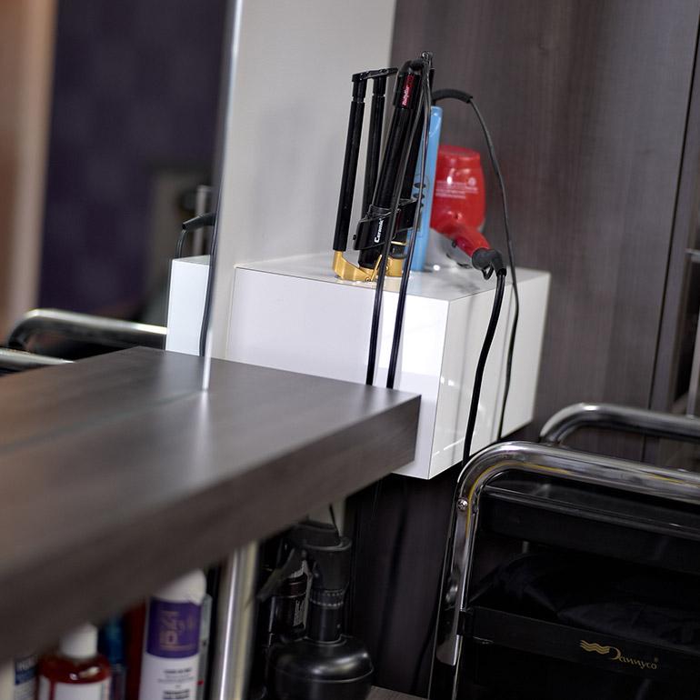 Cuisines beauregard accessoires pour salon de coiffure for Accessoire pour salon de coiffure