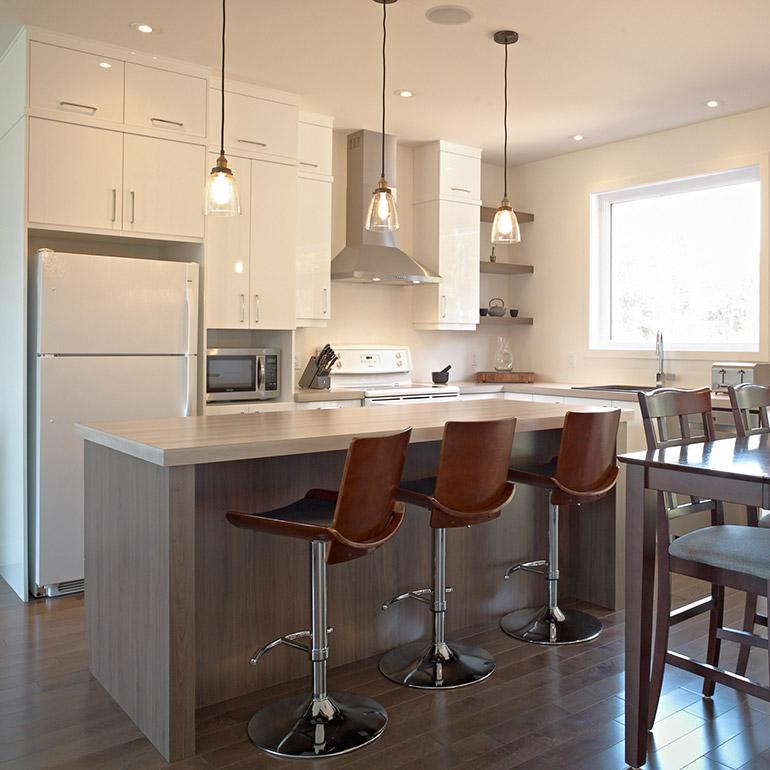 Aménagement Extérieur Maison Moderne : Cuisines beauregard cuisine réalisation armoires