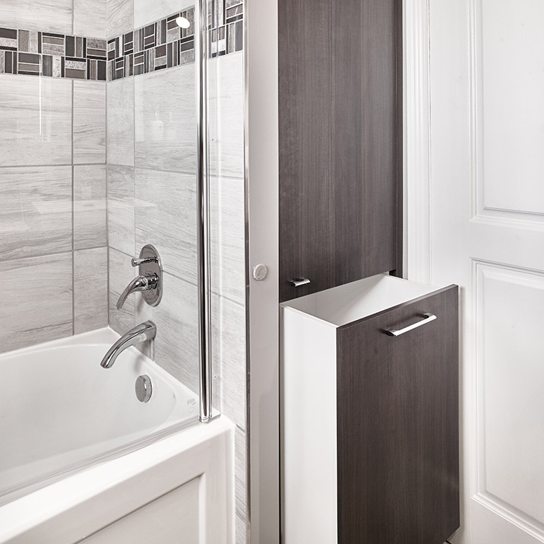 Project 361 Bathroom Cabinet With Built, Bathroom Cabinet With Built In Laundry Hamper