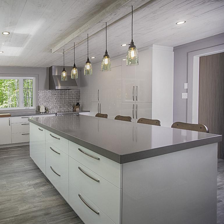 cuisines beauregard armoires de cuisine contemporaine r alisation 370 cuisine contemporaine. Black Bedroom Furniture Sets. Home Design Ideas