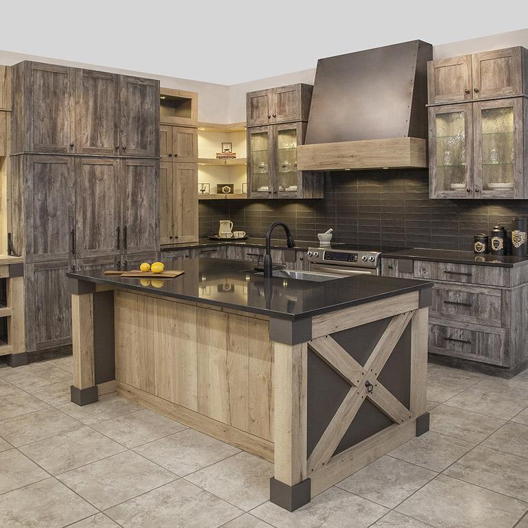 Cuisines beauregard armoires de cuisine r alisation b5 armoires de cuisin - Cuisine cachee par des portes ...
