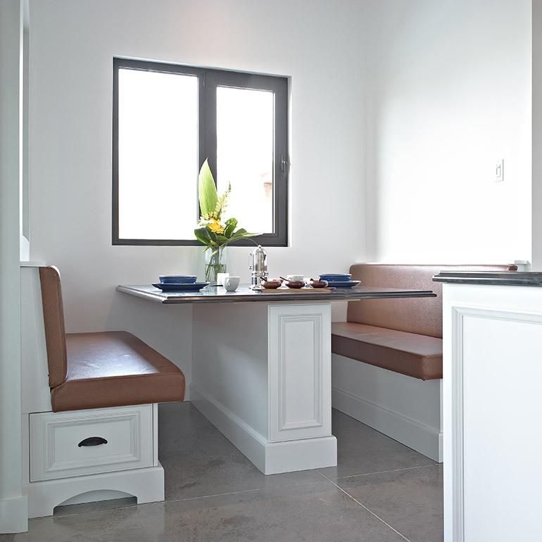 Cuisines Beauregard | Bench made to measure for the kitchen