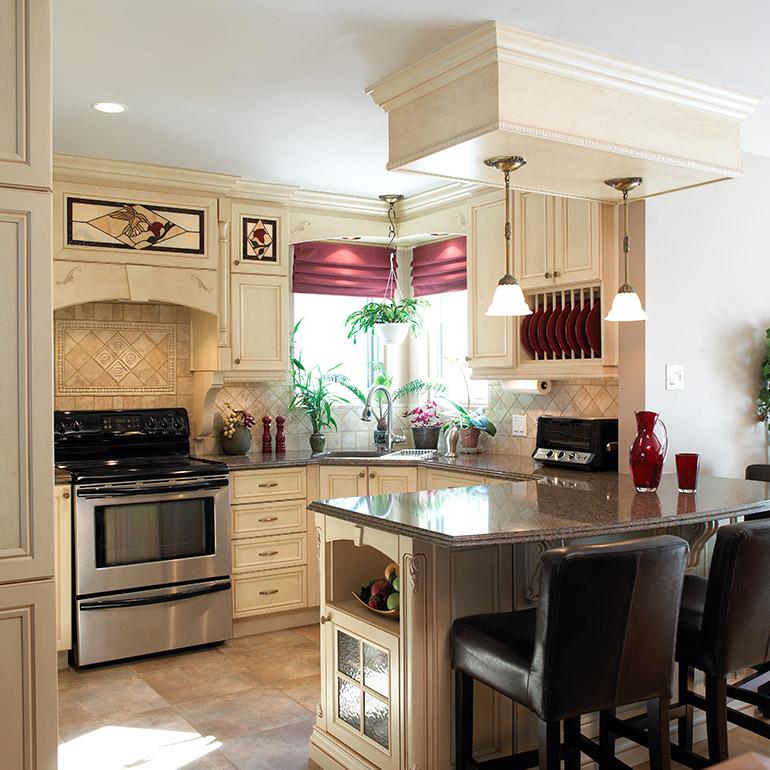 Comptoirs cuisine quartz cuisines beauregard for Cuisine beauregard