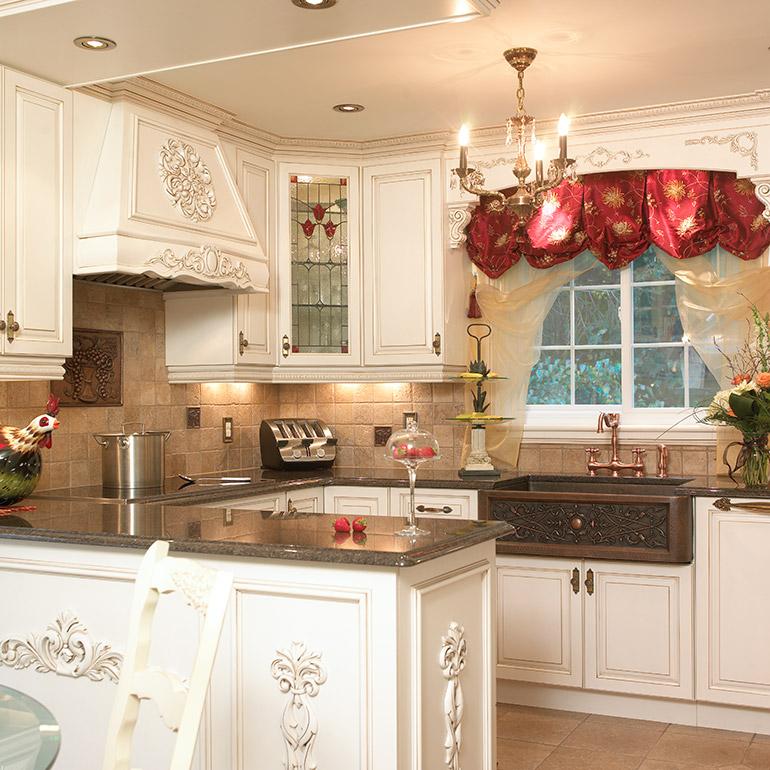 Cuisines beauregard cuisine r alisation 182 armoires for Armoire de cuisine style champetre