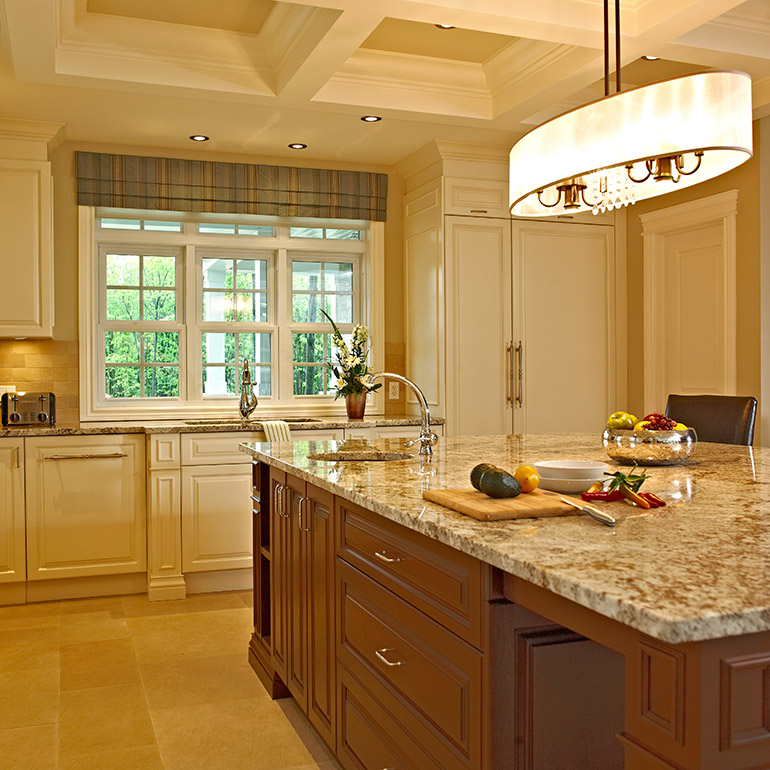 cool ilot de cuisine classique avec espace pour banc with banc pour ilot de cuisine. Black Bedroom Furniture Sets. Home Design Ideas