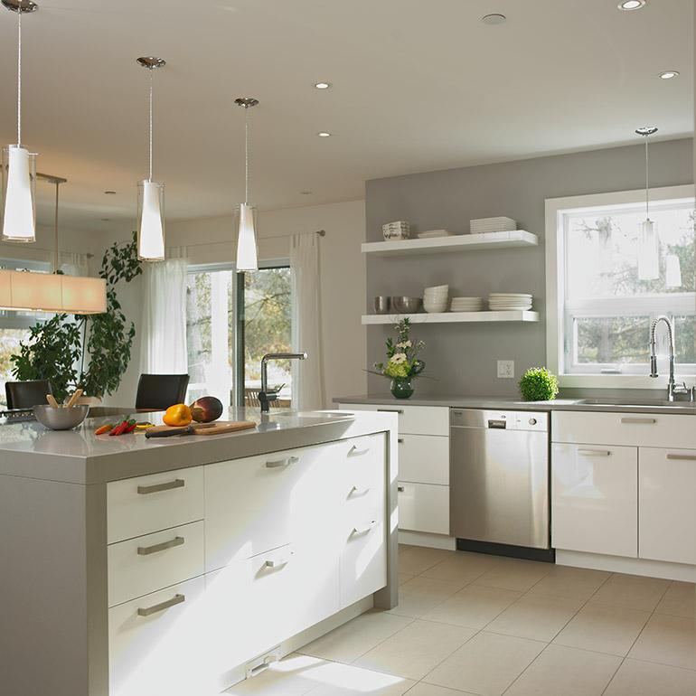 Armoires cuisine thermoplastique cuisines beauregard for Cuisine beauregard